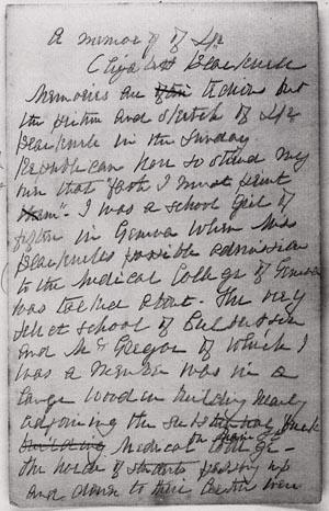 Blackwell essay
