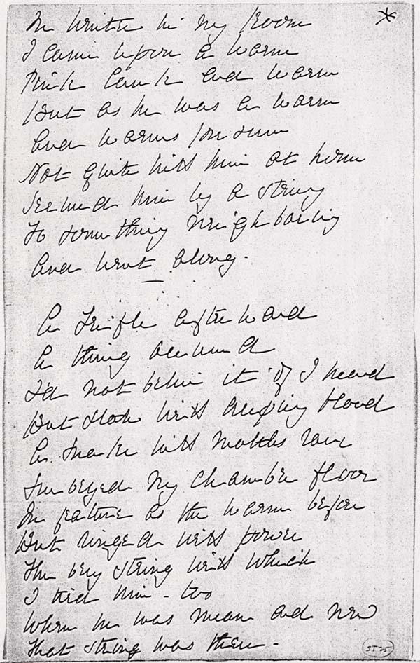 emily dickinson writing style